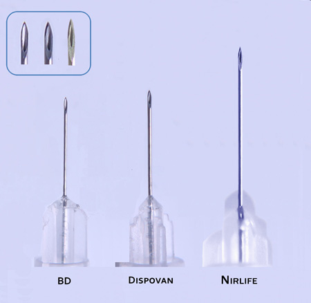 insulin syringe needles compared